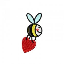 Biene mit Herz