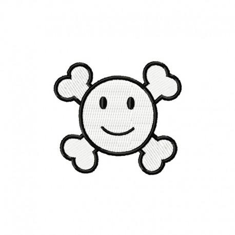 Stickdatei Smiley Knochi