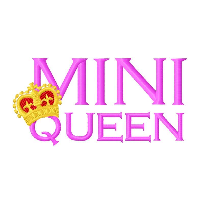 Stickdatei Mini Queen
