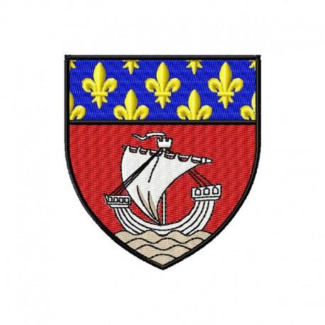 Stickdatei Wappen Stadt Paris