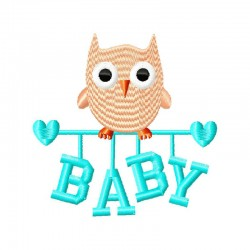 Stickdatei Baby Eule