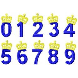 Krone Zahl Set 0-9
