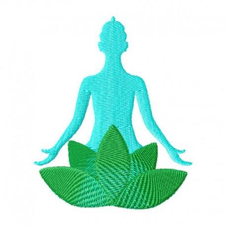 Stickdatei Lotus Meditation