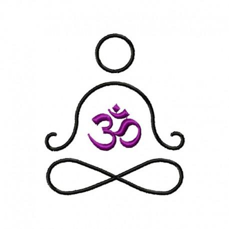 Stickdatei OM Meditation