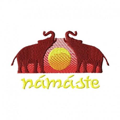 Stickdatei Namaste