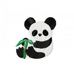 Stickdatei Panda Bambuszweig
