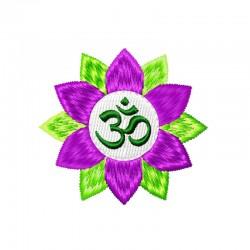 Stickdatei OM Zeichen Lotus