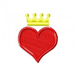 Stickdatei Herz mit Krone